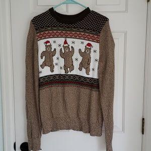 St John's bay dancing Christmas bear sweater